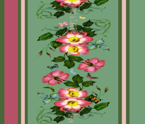 """22"""" wide God is Love  Border fabric by paragonstudios on Spoonflower - custom fabric"""