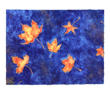 Leaves fabric by jadegordon on Spoonflower - custom fabric