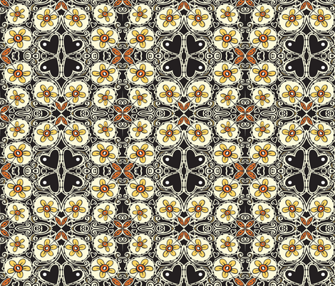 Daisies fabric by tessiegirldesigns on Spoonflower - custom fabric