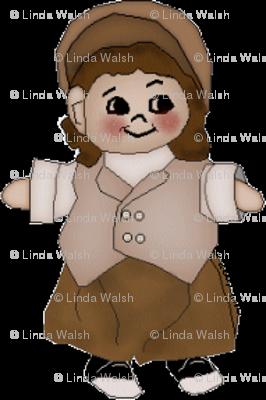 Elmer's Little Boy Victorian Doll - Mirror Small Fabric