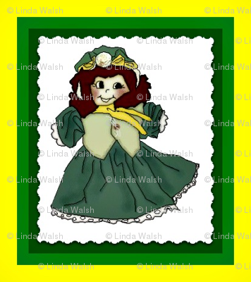 Doris Marie - Elmer's Little Sister Victorian Doll - Small Fabric