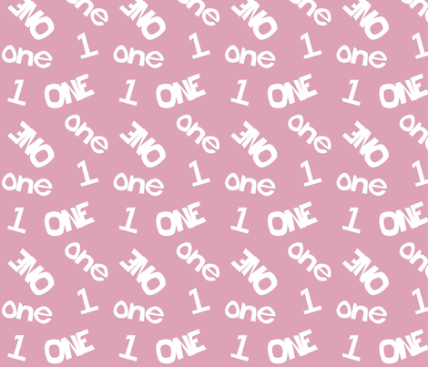 One - Pink 001 fabric by lowa84 on Spoonflower - custom fabric