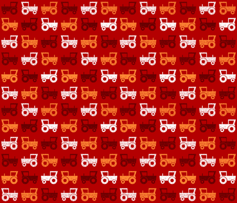 SteffFabricsTractorRed01 fabric by steffstyle on Spoonflower - custom fabric