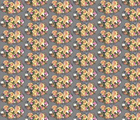 Roses for My Lady fabric by robin_rice on Spoonflower - custom fabric