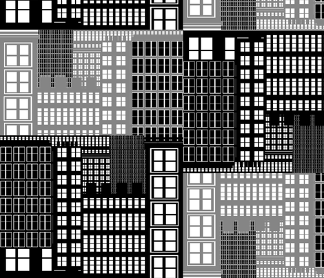 NYC AT NIGHT fabric by soobloo on Spoonflower - custom fabric