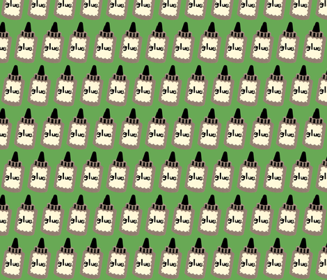 bottle of glue fabric by heidikenney on Spoonflower - custom fabric