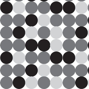 DOTS IN A ROW-BLACK