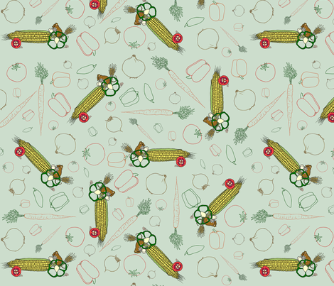 Drive_your_veggies_to_salsa fabric by victorialasher on Spoonflower - custom fabric