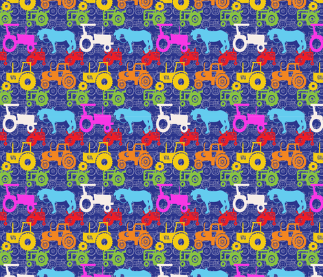 tractor fabric by dagster on Spoonflower - custom fabric