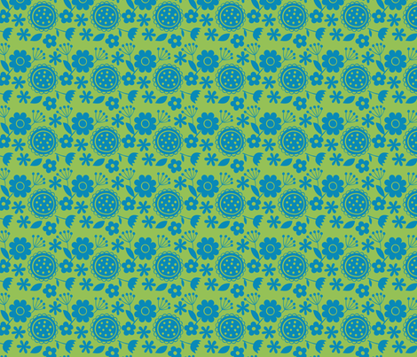 fleurs-bleues fabric by milto42 on Spoonflower - custom fabric