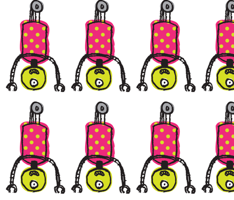 Wheelie Fun Fabric-- Pink fabric by hoolagoods on Spoonflower - custom fabric