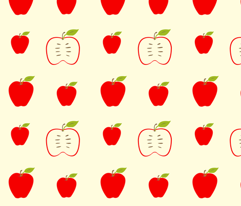 apples fabric by featheredneststudio on Spoonflower - custom fabric