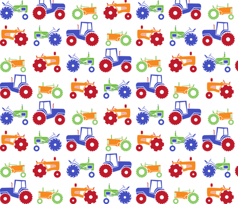Tractor 5 fabric by jmckinniss on Spoonflower - custom fabric