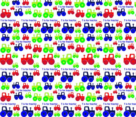 Tractor_fabric fabric by ashleighhoyledesign on Spoonflower - custom fabric