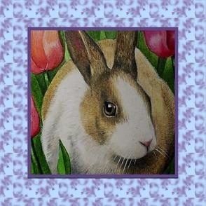 Bunny Rabbit In Tulips