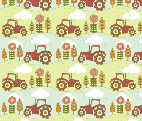 In the farm fabric by valentinaharper on Spoonflower - custom fabric