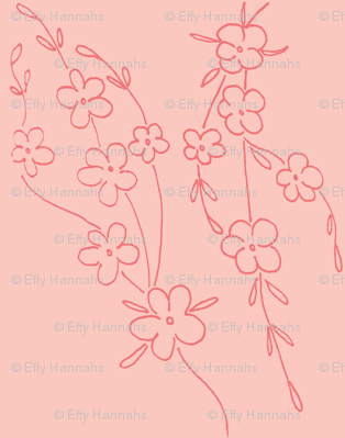 Cherry Blossoms - Pink on Pink