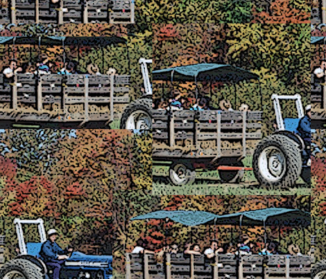 tractor_one fabric by jenevieve on Spoonflower - custom fabric