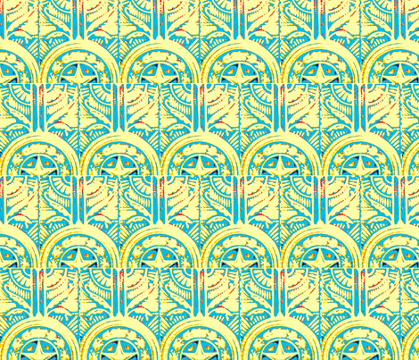 Texas Star fabric by frances_hollidayalford on Spoonflower - custom fabric