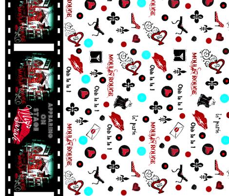 "52"" Ohh la la border print fabric by paragonstudios on Spoonflower - custom fabric"