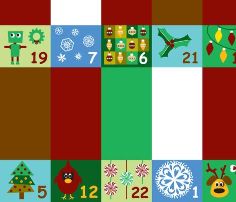 Advent Calendar Quilt fabric by gatheredthreads on Spoonflower - custom fabric