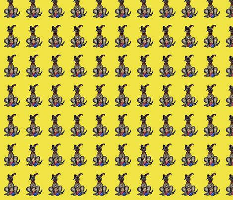 Roxton-and-Emma-Yellow fabric by mrssmith on Spoonflower - custom fabric