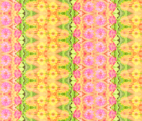 b_zinnia_border_6300x1024_Picnik_collage fabric by khowardquilts on Spoonflower - custom fabric