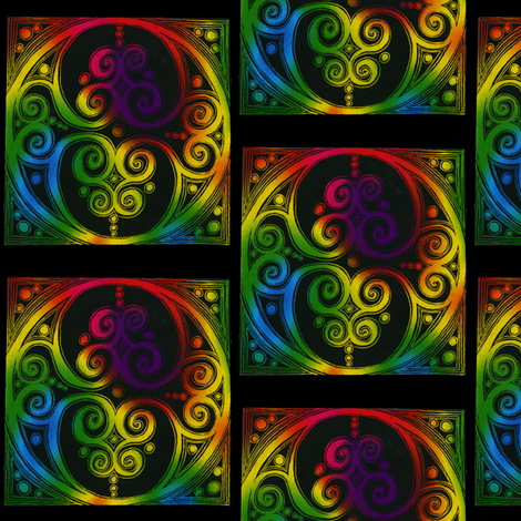 Celtic Circle  fabric by joonmoon on Spoonflower - custom fabric