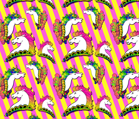 carousel horses fabric by hannafate on Spoonflower - custom fabric