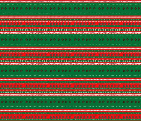 Christmas_Stripe fabric by snooky on Spoonflower - custom fabric