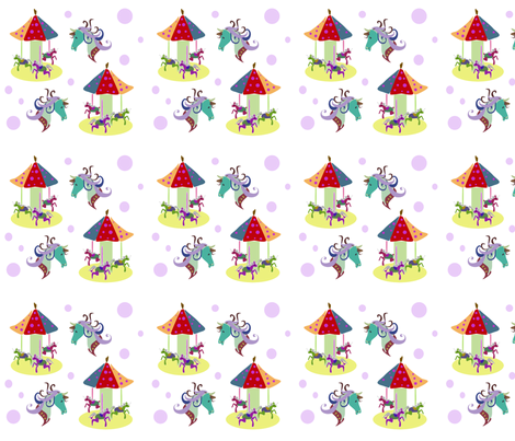 Horsey, horsey, carousel fabric by ikki_pokki on Spoonflower - custom fabric