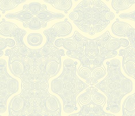 Swirls_-_blue fabric by janicesheen on Spoonflower - custom fabric