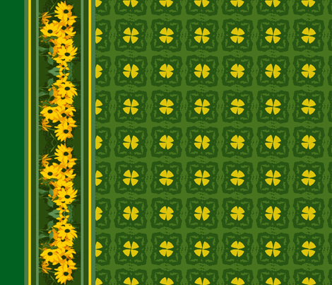 Black_eyed_Susan_border_6300x1350_Picnik_collage fabric by khowardquilts on Spoonflower - custom fabric