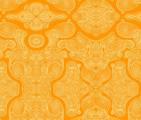 Swirls_-_Yellow_dark fabric by janicesheen on Spoonflower - custom fabric