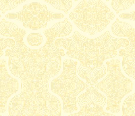 Swirls-_Yellow fabric by janicesheen on Spoonflower - custom fabric