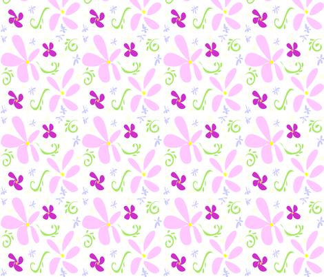 Pink Petals fabric by ikki_pokki on Spoonflower - custom fabric