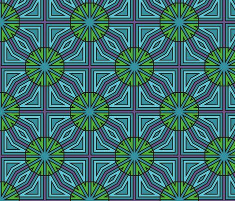 Sow Thistle (Blue) fabric by nekineko on Spoonflower - custom fabric