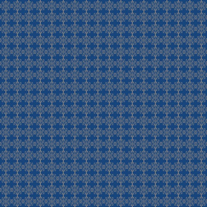 Blue/Beige Florets