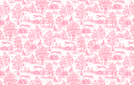 Light Pink Greyhound Toile ©2010 by Jane Walker  fabric by artbyjanewalker on Spoonflower - custom fabric