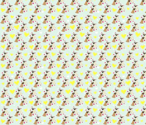 PUG LOVE fabric by printedpretties on Spoonflower - custom fabric