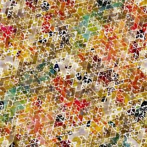 Geometric watercolor triangles