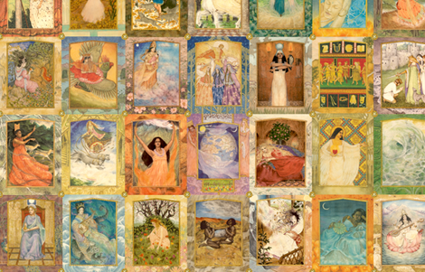 Goddesses Galore fabric by artandwords on Spoonflower - custom fabric