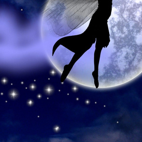 Moonlight Fairy Silhouette