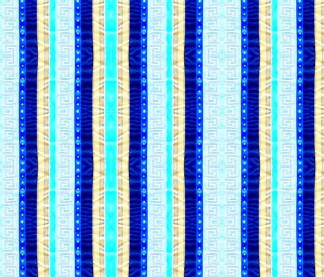 Blue Ribbons fabric by robin_rice on Spoonflower - custom fabric