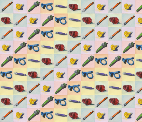 Whistles Series Rainbow fabric by amyelyse on Spoonflower - custom fabric