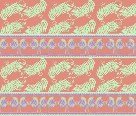 Mask & Fern fabric by cyndilou on Spoonflower - custom fabric