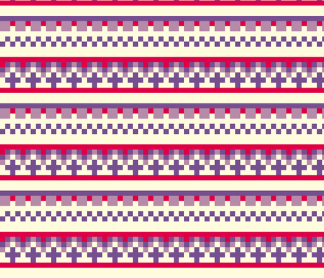Norwegian pixel fabric by danachen on Spoonflower - custom fabric