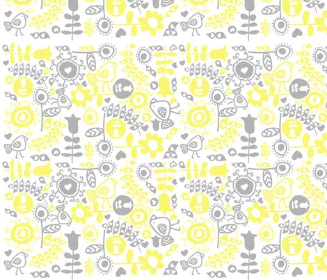 avian flora fabric by mondaland on Spoonflower - custom fabric
