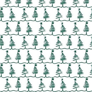 Scribbled Christmas Trees