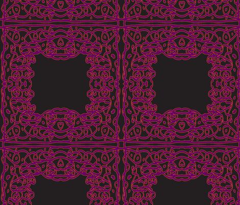 Jan's Halloween Bandana1 black purple orange fabric by jan4insight on Spoonflower - custom fabric